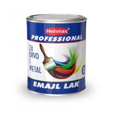 Hemmax Emajl lak za drvo i metal na uljanoj bazi crni mat 0,75 litara