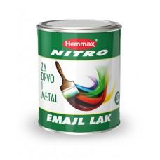 Hemmax NITRO emajl za drvo i metal crni mat 0,75 llitara