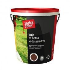 Zorka boja za beton vodena braon 4343 1 kg.