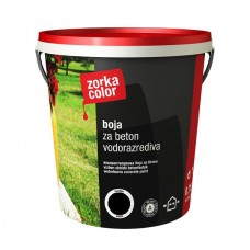 Zorka boja za beton vodena crna 7508 1 kg.