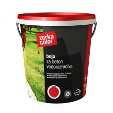 Zorka boja za beton vodena crvena 3721 1 kg.