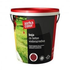 Zorka boja za beton vodena oks. crvena 3723 1 kg.