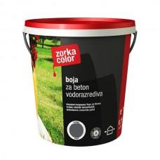 Zorka boja za beton vodena siva tamno 7544 1 kg.