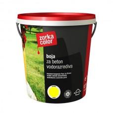 Zorka boja za beton vodena žuta 2497 1 kg.