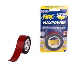 HPX Max Power outdoor dvostrano lepljiva traka crna