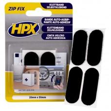 HPX Čičak samolepljive pločice crne 20x50 mm.